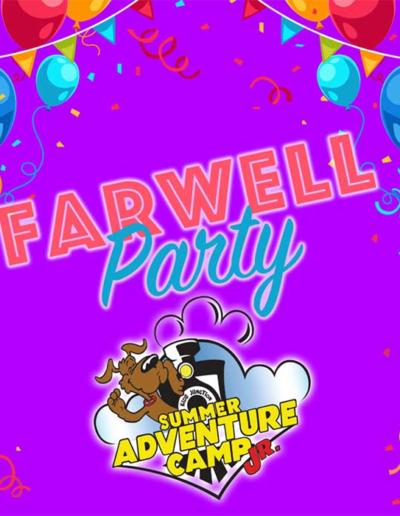 Summer Adventure Camp Jr Farewell Party
