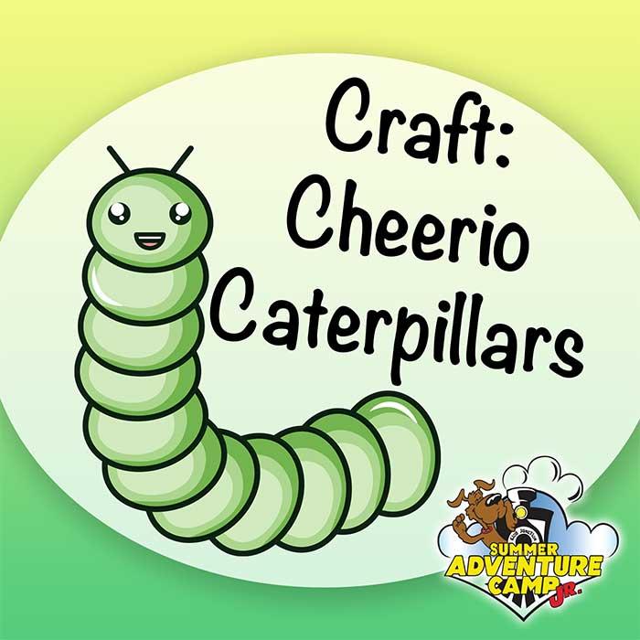 Craft: Cheerio Caterpillars