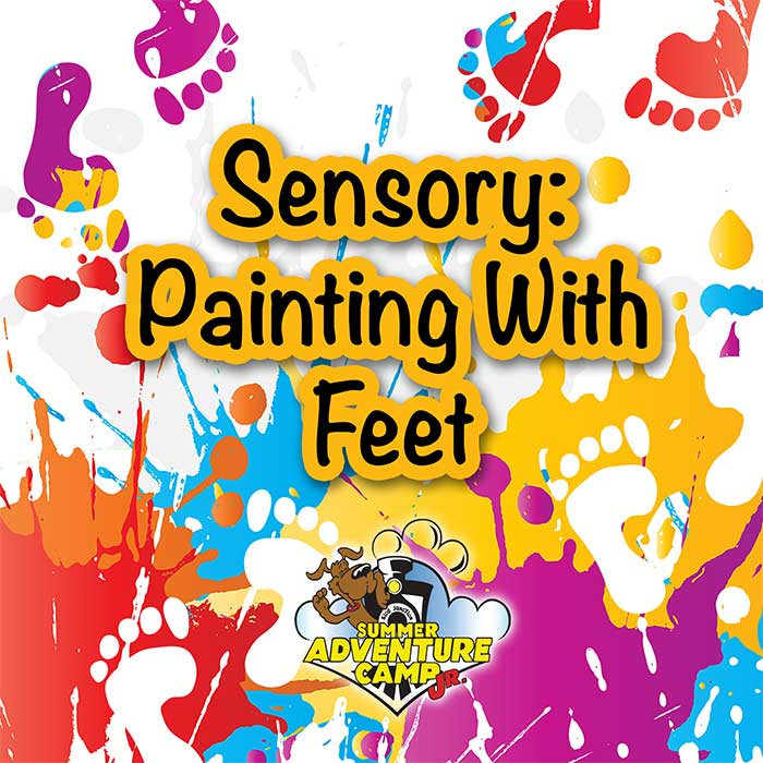 Sensory: Painting With Feet