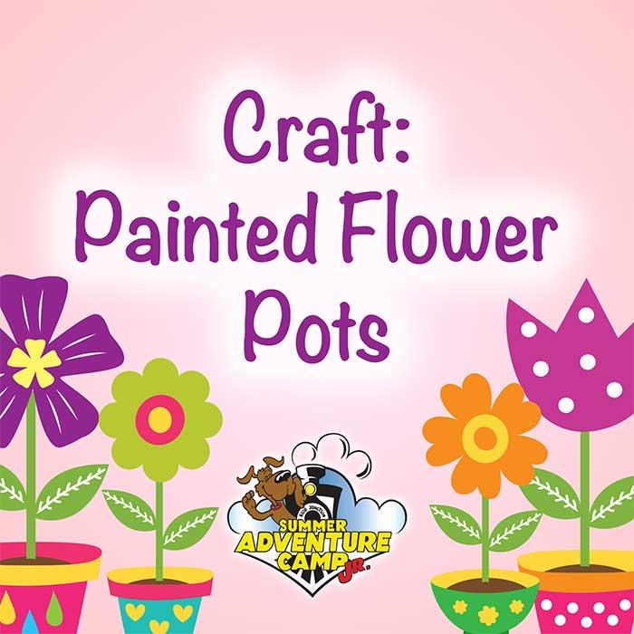 Craft: Painted Flower Pots