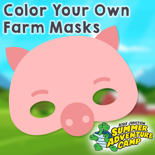 Color your own farm masks